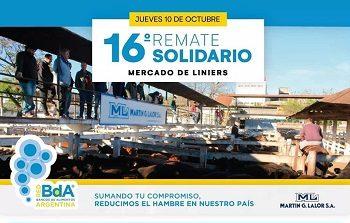 <span style='color:#e57026;font-size:15px;'>A beneficio de los Bancos de Alimentos</span><br/><span></span><p/>Gran Remate Solidario en Liniers