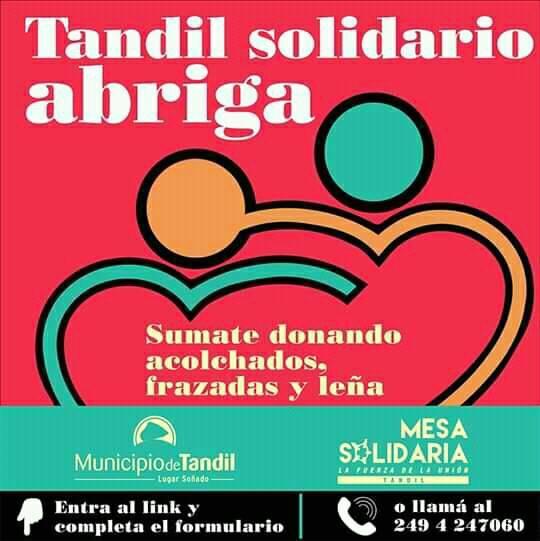 <span style='color:#e57026;font-size:15px;'>Acciones positivas</span><br/><span></span><p/>Sigue la campaña Tandil Solidario Abriga