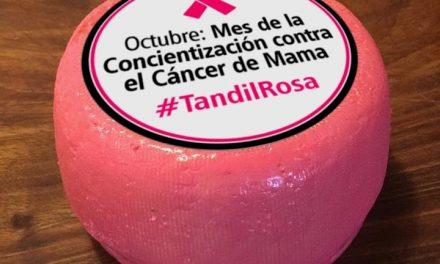 <span style='color:#e57026;font-size:15px;'>Por el mes del cáncer de mama</span><br/><span></span><p/>Los quesos de Tandil se pintan de rosa