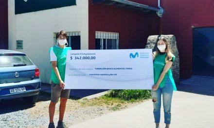 <span style='color:#e57026;font-size:15px;'>Proviene de la Fundación Telefónica Movistar Ar</span><br/><span></span><p/>Donación al Banco de Alimentos de Tandil
