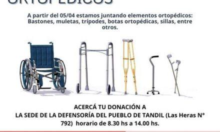 <span style='color:#e57026;font-size:15px;'>En la Defensoría del Pueblo</span><br/><span></span><p/>Colecta de elementos ortopédicos